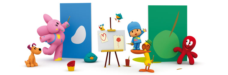 Activities and crafts for kids of Pocoyo