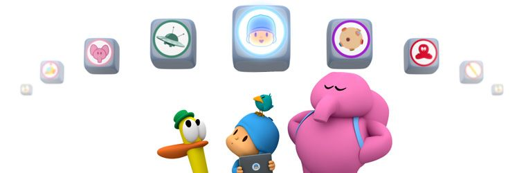 Pocoyo's apps for Smartphone, Ipad and Tablet
