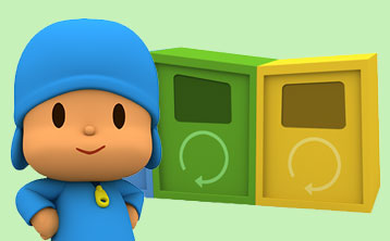 Learn how to recycle with Pocoyo