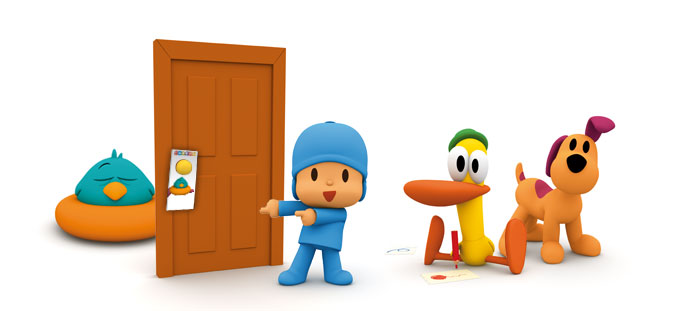 Craft Projects Pocoyo Bird on the door