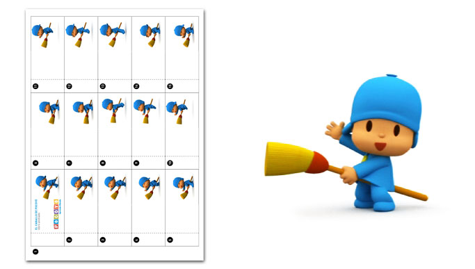 Craft Projects Pocoyo Flipbook: Pocoyo's horse