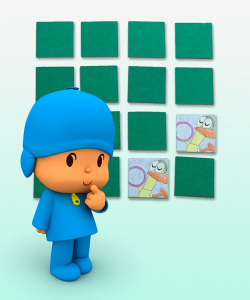 Who is who in this Pocoyo Games Memory?