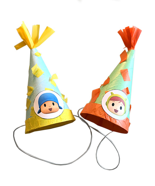 Pocoyo and Nina's Birthday hats