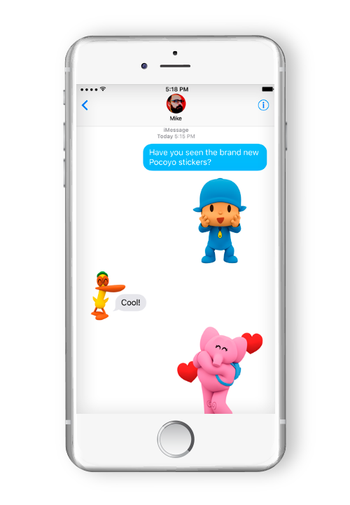 Pocoyo Stickers for Messages
