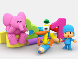 Pocoyo's numbers and colors