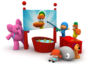 Games gratis Pocoyo: Pato's fishing game