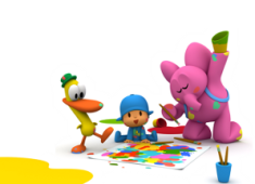 Games gratis Pocoyo: Super Painting and Colouring