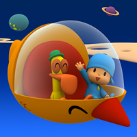 Crash game - The spaceship of Pocoyo