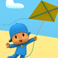Driving Games: We are going to fly the kite, Pocoyo!