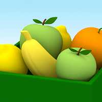 Platform games: fruit games of Pocoyo