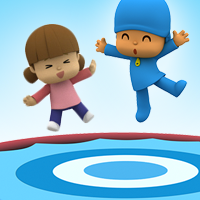Jumping games: trampoline game of Pocoyo