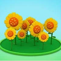 Planting flower seeds Game of Pocoyo